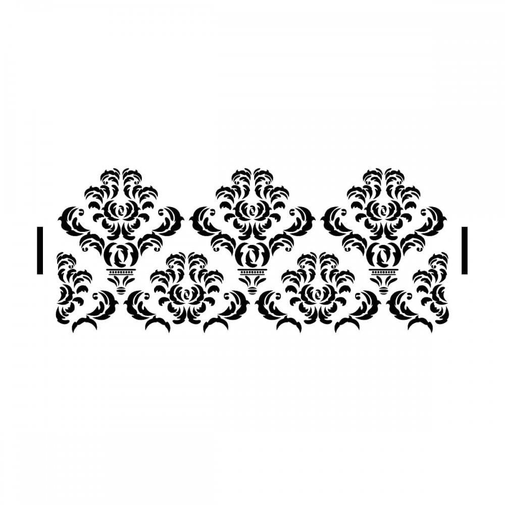 Decadent Damask Stencil| Elegant Cake Craze Cake Stencils - Damask Stencil Printable Free