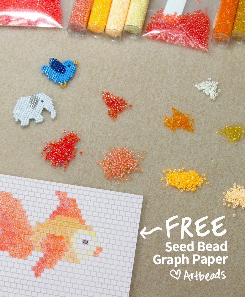 Designer Downloads - Free Printable Seed Bead Graph Paper - Artbeads - Free Printable Bead Loom Patterns