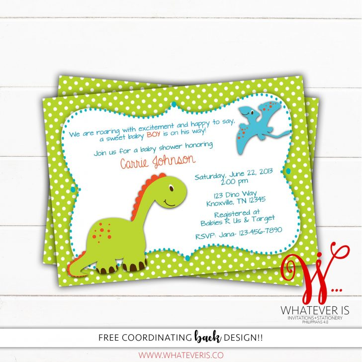 Free Printable Dinosaur Baby Shower Invitations