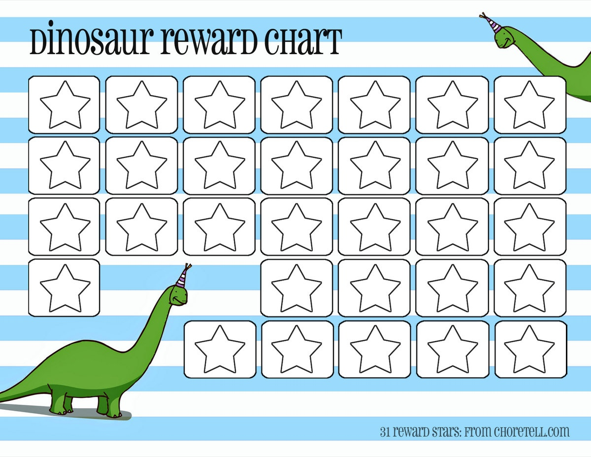 Dinosaur Reward Charts: Pink & Blue - Free Printable Downloads From - Reward Charts For Toddlers Free Printable