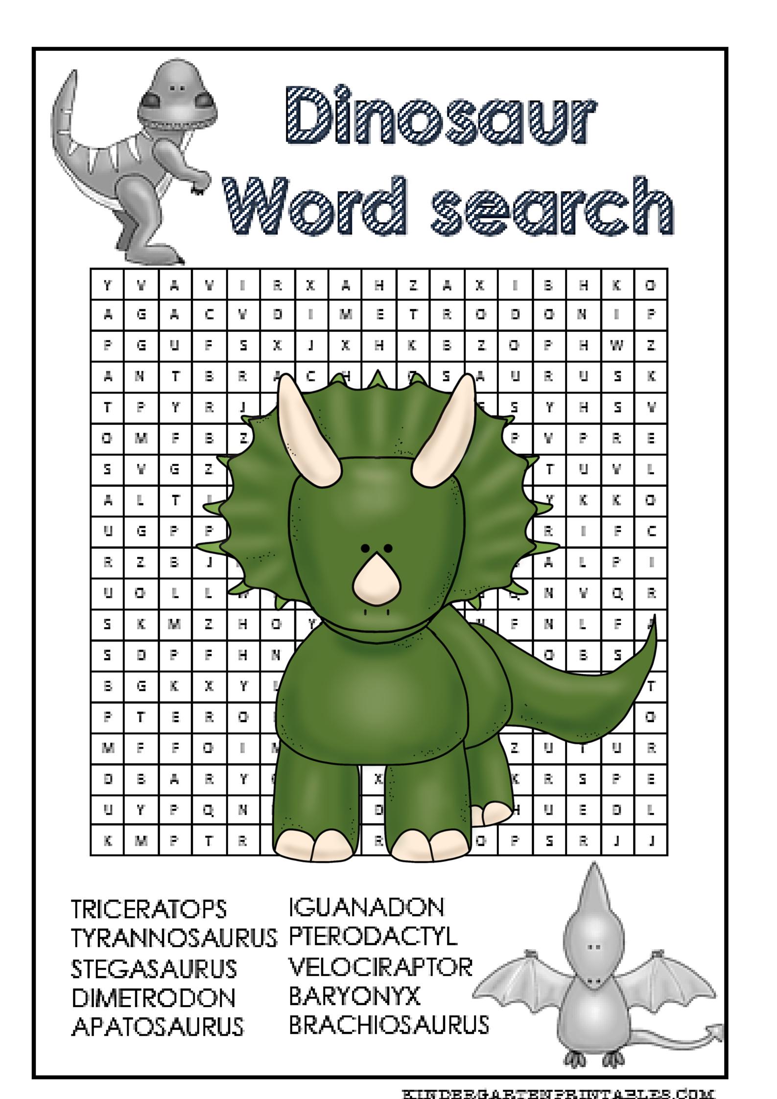 Dinosaur Word Search Free Printable   Word Search   Free Printables - Free Printable Dinosaur Word Search