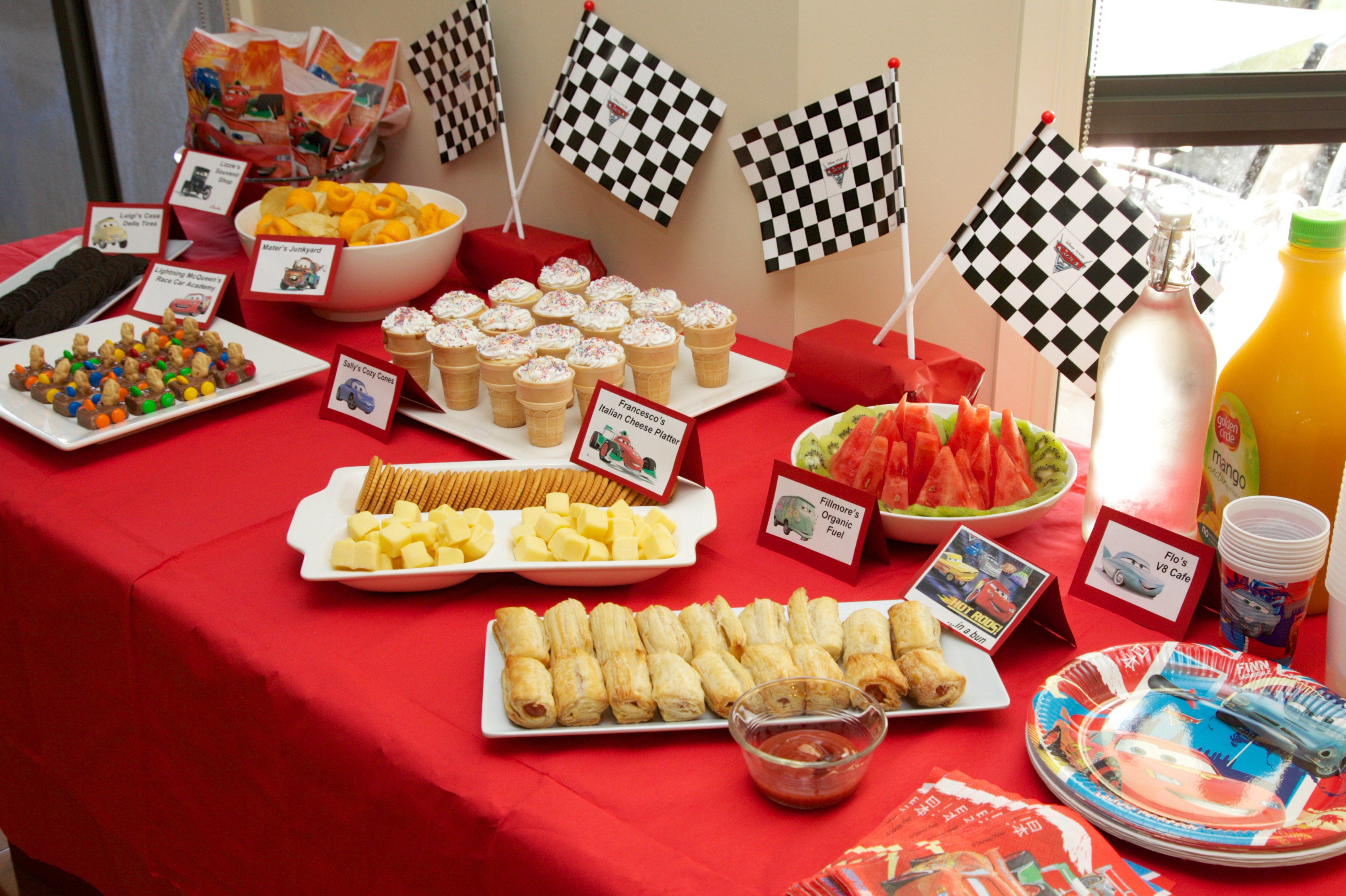 Disney Cars Birthday Party Food Labels - Free Printable - Kidz - Free Printable Cars Food Labels