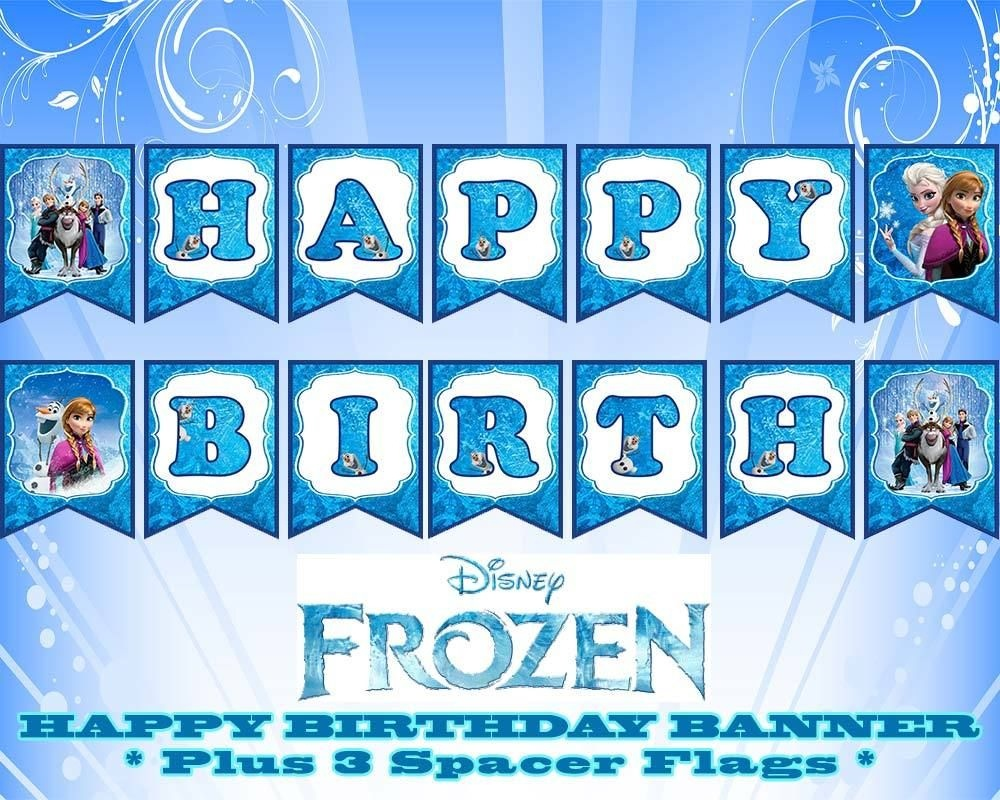 Disney Frozen Happy Birthday Banner | Birthday In 2019 | Frozen - Frozen Happy Birthday Banner Free Printable