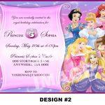 Disney Princess Birthday Invitation Card Maker Free | Baby Shower   Disney Princess Birthday Invitations Free Printable
