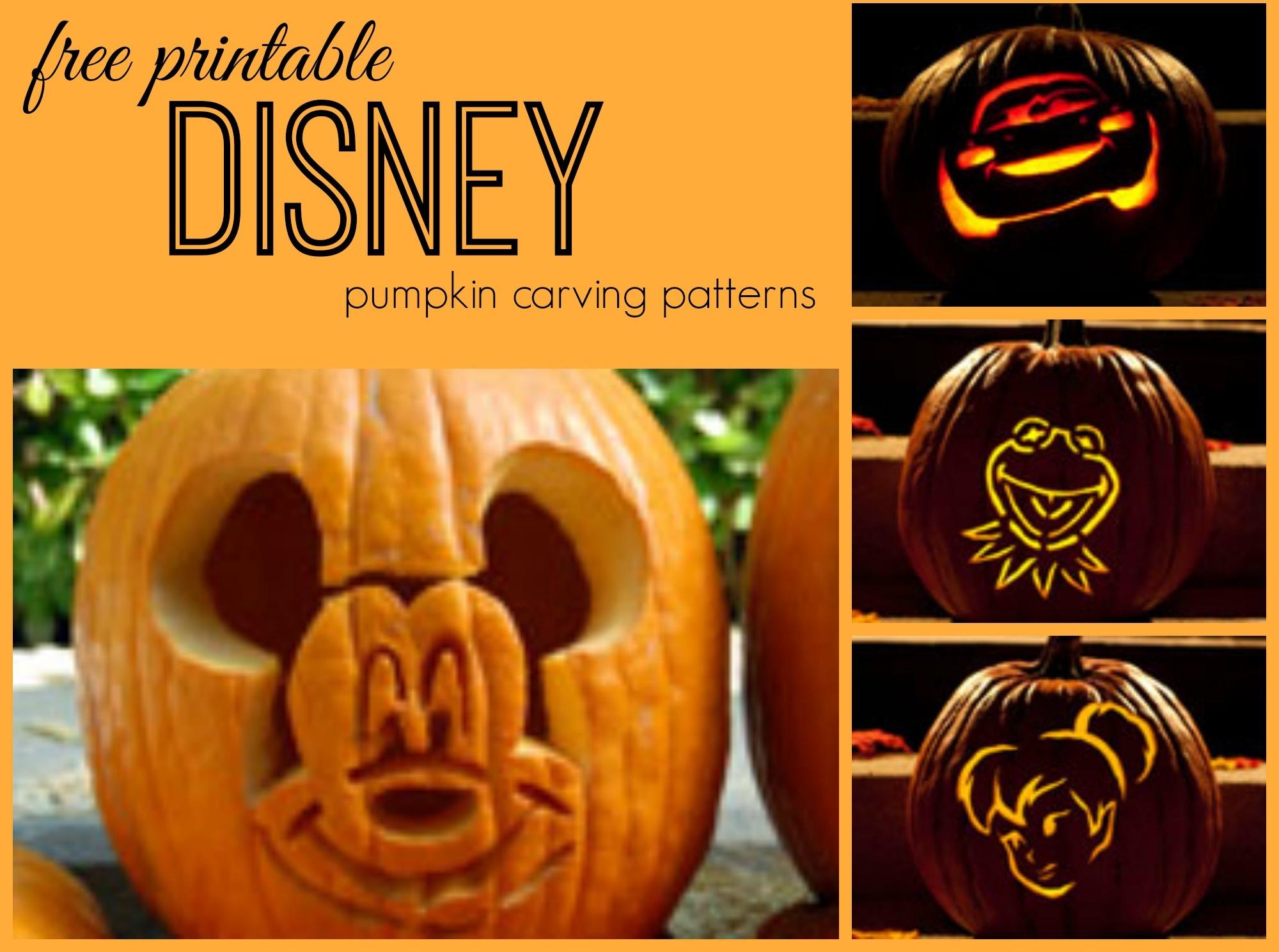 Disney Pumpkin Carving Patterns - Frugal Fanatic - Free Printable Lightning Mcqueen Pumpkin Stencil