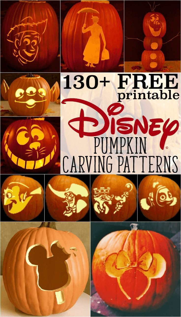 Disney Pumpkin Stencils: Over 130 Printable Pumpkin Patterns - Free Printable Toy Story Pumpkin Carving Patterns