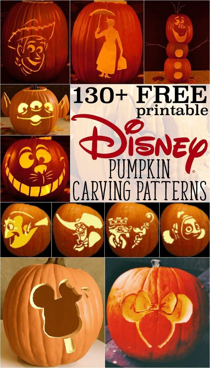 Disney Pumpkin Stencils: Over 130 Printable Pumpkin Patterns - Free Printable Toy Story Pumpkin Carving Patterns