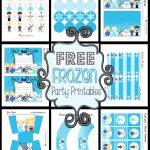 Disney's Frozen Party Printable Set ~ Free   Frozen Happy Birthday Banner Free Printable