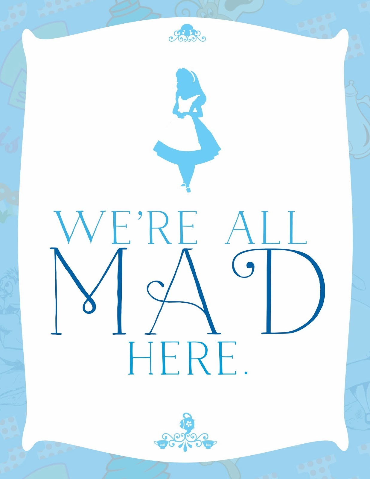 Divine Design} Free Printable Tuesday – Ally Jean Blog - Alice In Wonderland Signs Free Printable