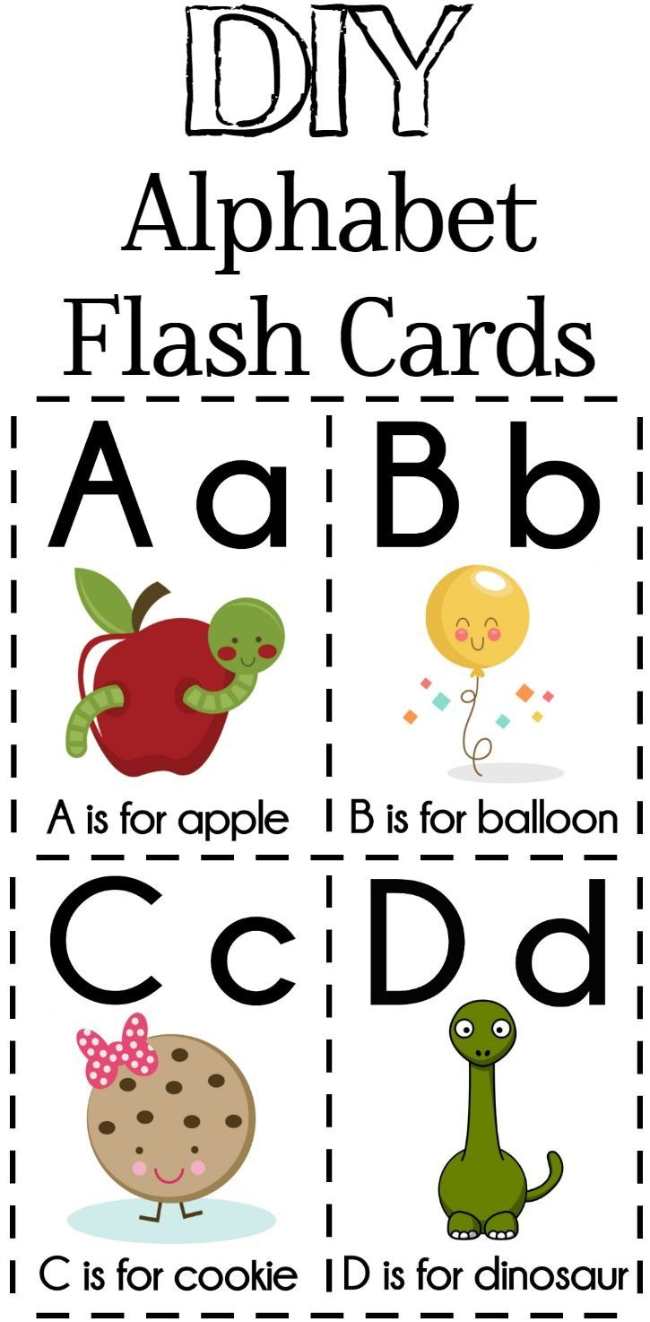 Diy Alphabet Flash Cards Free Printable | Printables - Education - Free Printable Abc Flashcards With Pictures