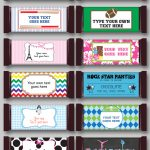 Diy Candy Bar Wrapper Templates | Party Favors | Chocolate Bar Labels   Free Printable Birthday Candy Bar Wrappers