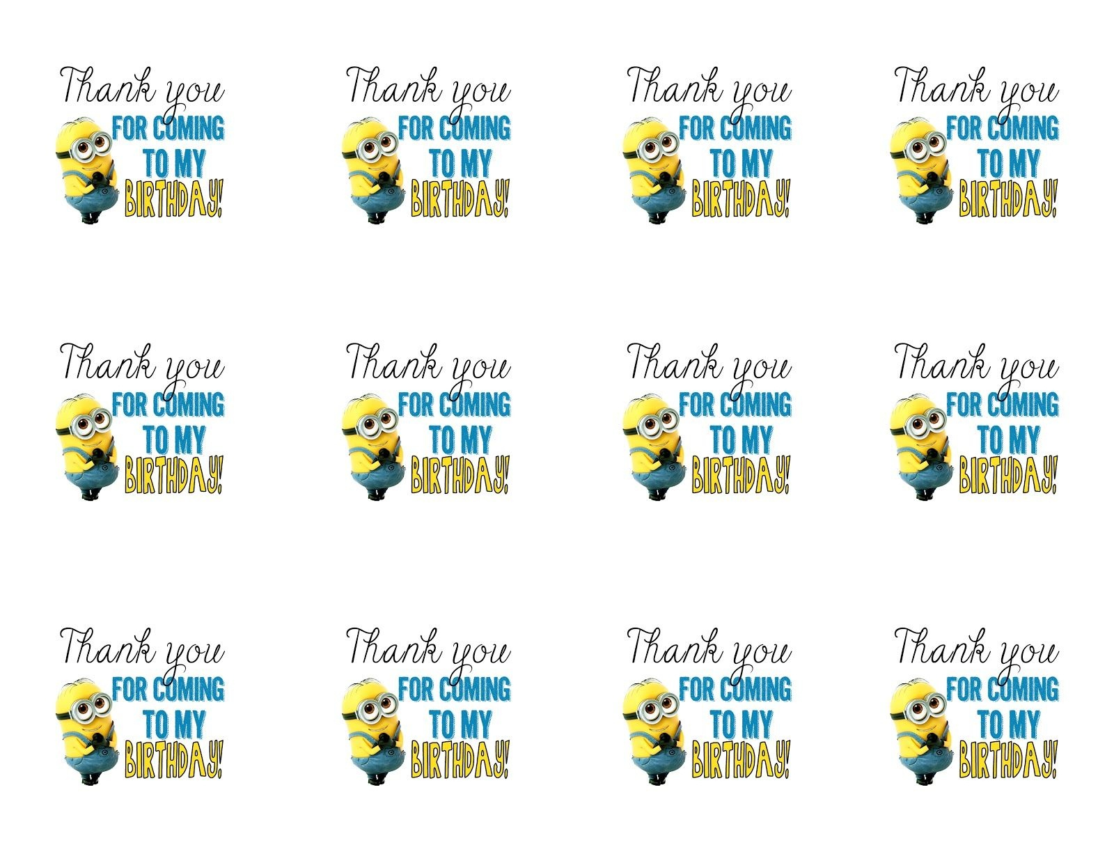Diy Design Den: Minion Birthday Party With Free Printables - Free Printable Minion Food Labels