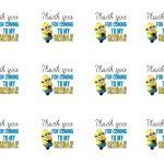 Diy Design Den: Minion Birthday Party With Free Printables. | Lion   Thanks A Minion Free Printable