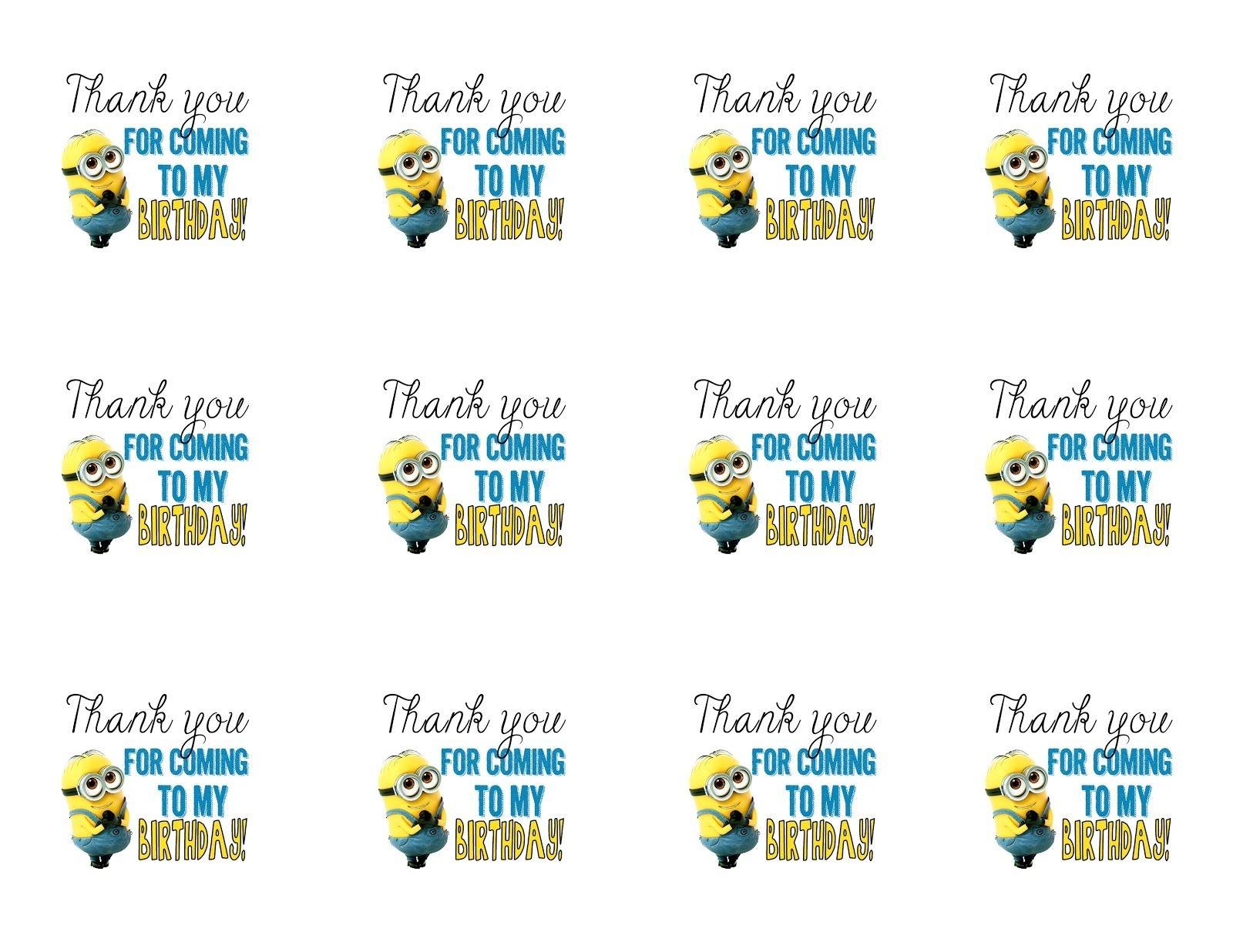 Diy Design Den: Minion Birthday Party With Free Printables. | Lion - Thanks A Minion Free Printable