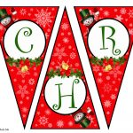 Diy Free Printable Christmas Banner | Vanitha Made Me – Free Printable Christmas Banner