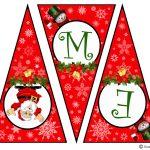 Diy Free Printable Christmas Banner | Vanitha Made Me   Free Printable Christmas Banner
