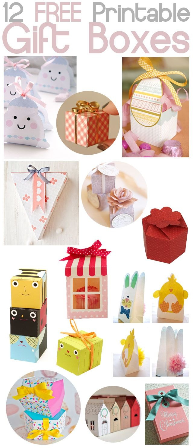 Diy - Free Printable Gift Boxes | Cadeautjes - Diy Gift Box, Diy - Free Printable Gift Boxes