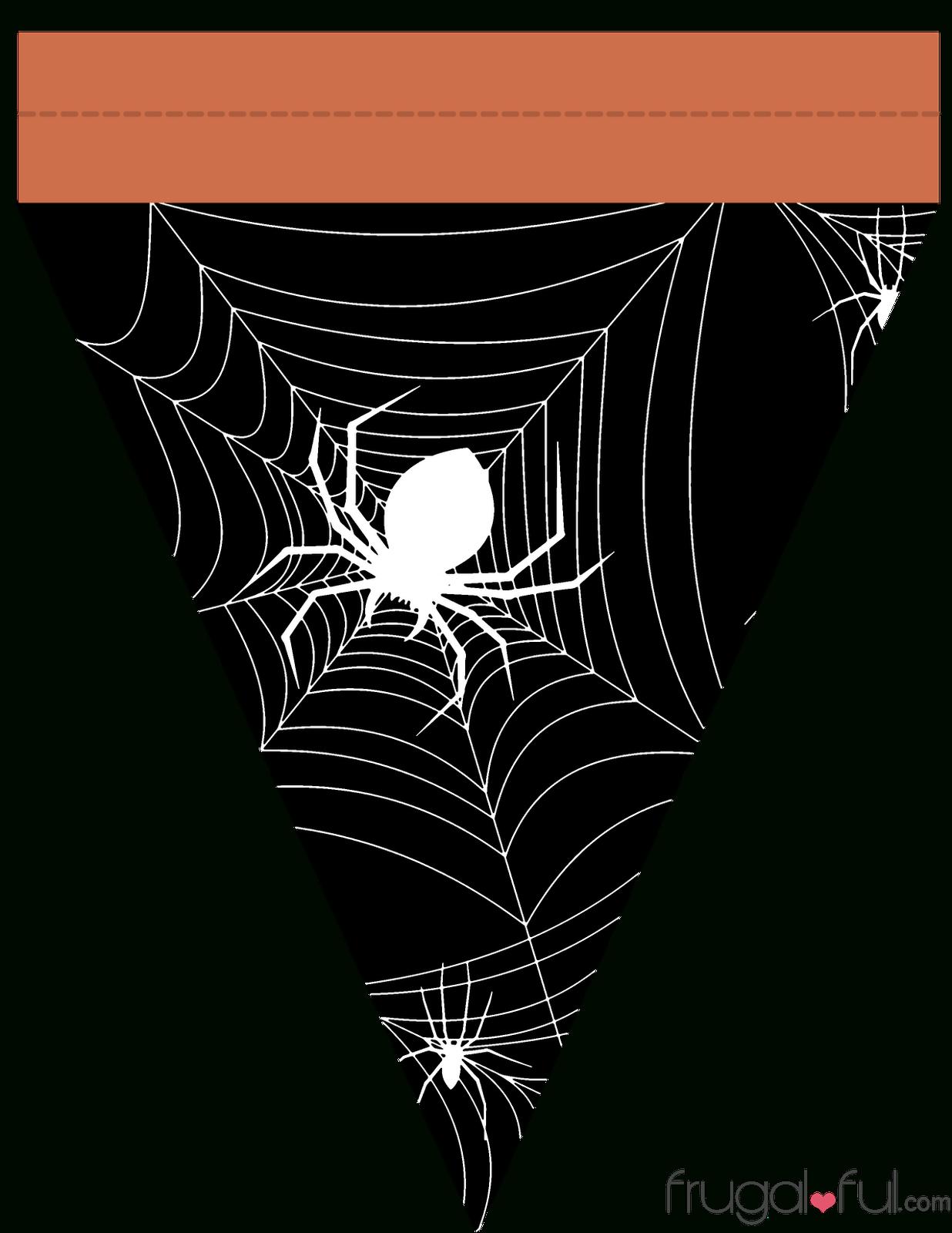 Diy} Free Printable Halloween Triangle Banner Template | Frugalful 2.0 - Free Printable Halloween Banner Templates