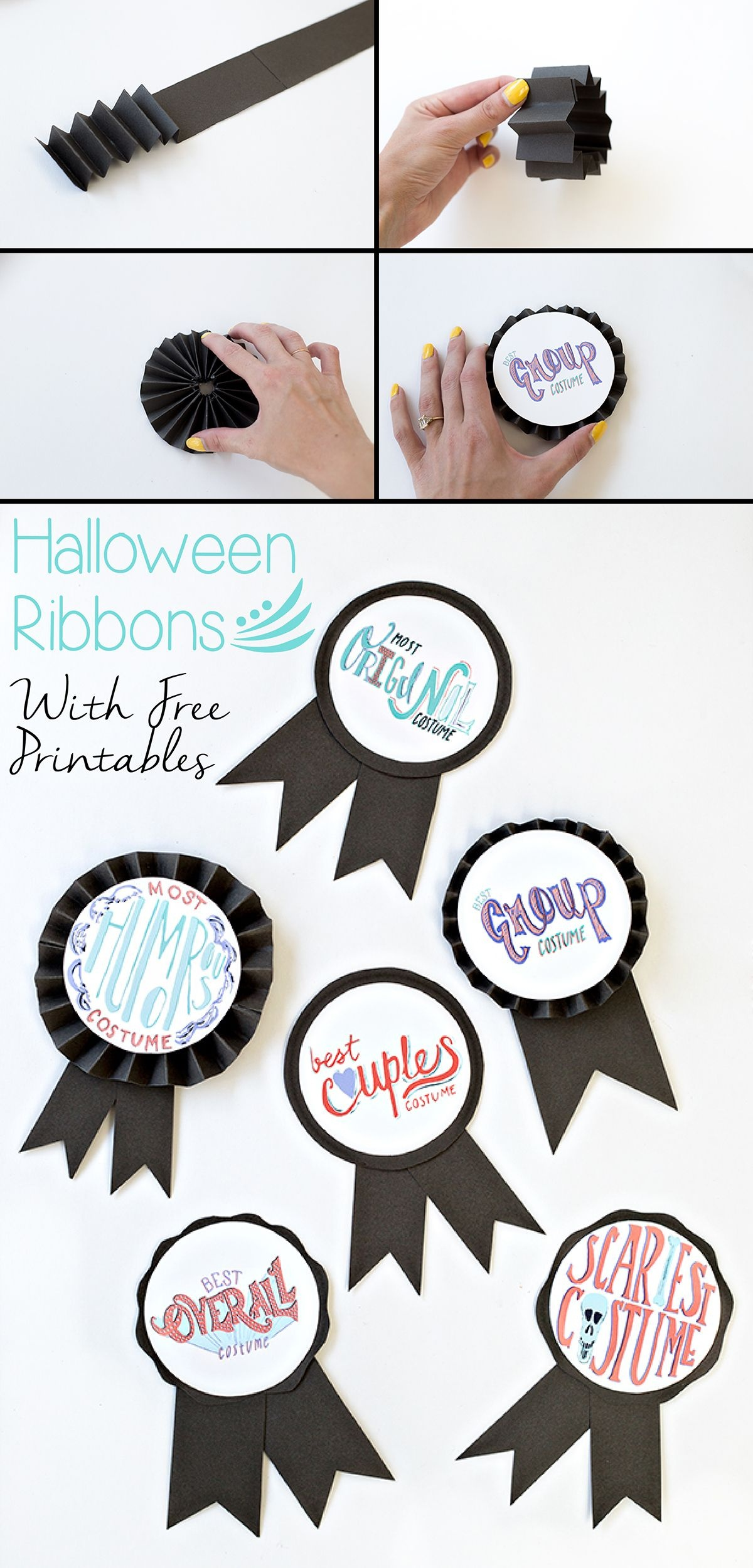 Diy Halloween Costume Award Ribbons (+ Free Printable | Free - Free Printable Halloween Award Certificates