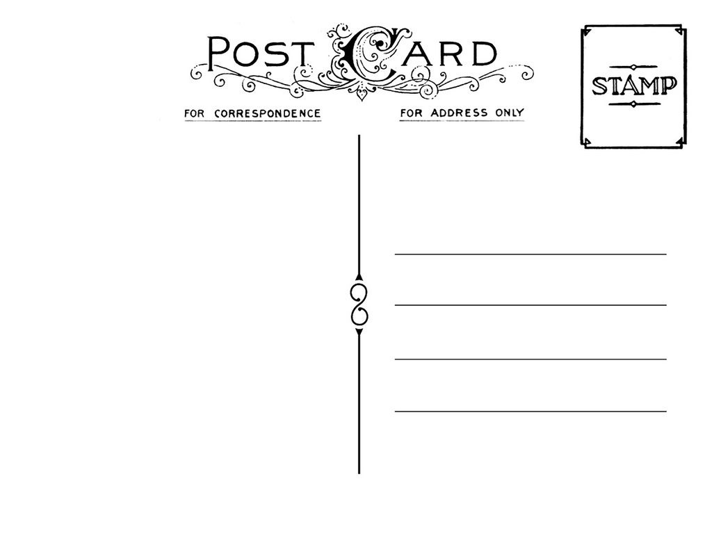 Diy Postcard Save The Date Back | Wedding Stationary | Free - Free Blank Printable Postcards