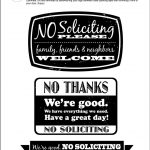 Diy Printable No Soliciting Signs … | No Soliciting Signs | No So…   Free Printable No Soliciting Sign