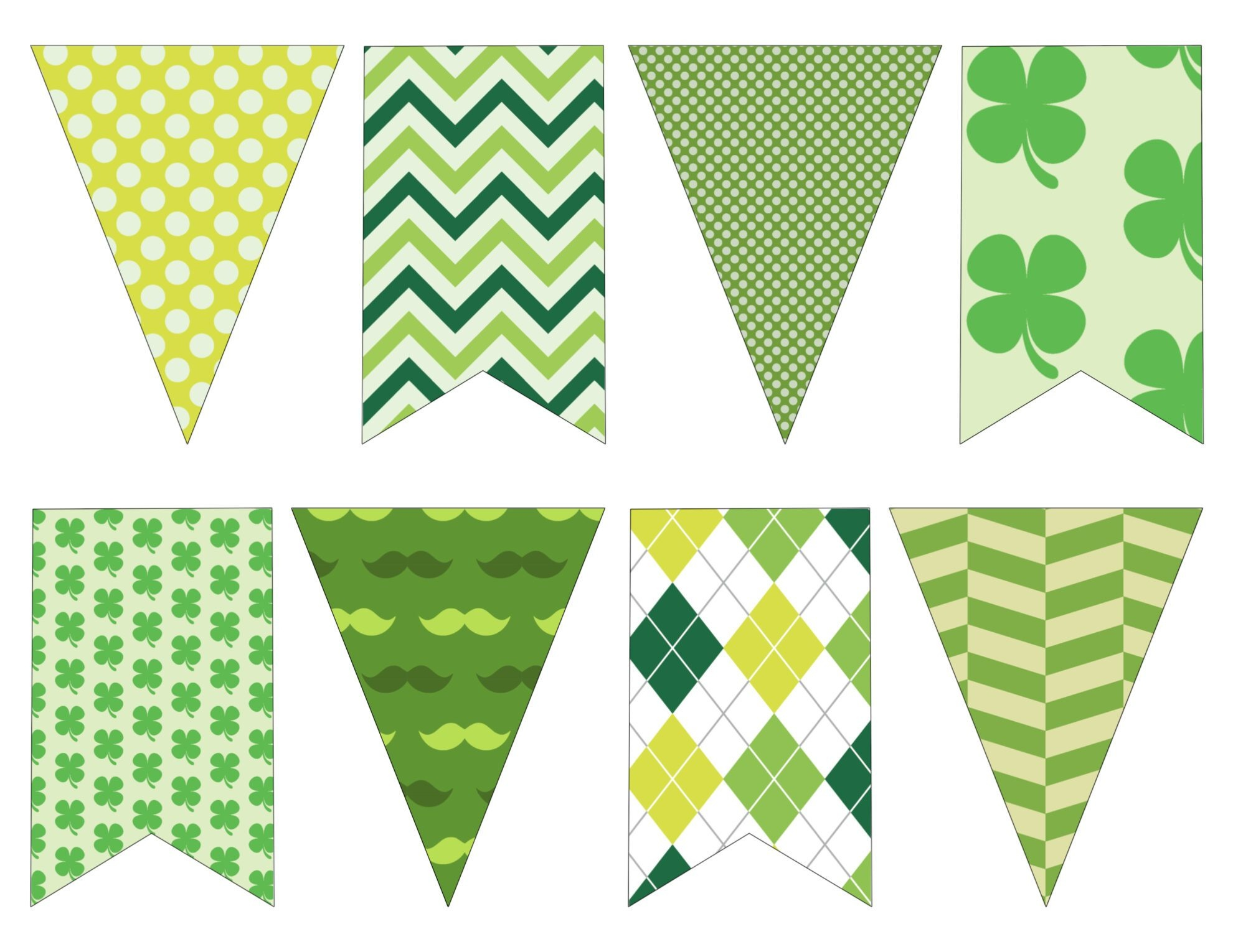 Diy St. Patrick's Day Decorations Printable Banner - Paper Trail Design - Free Printable St Patrick's Day Banner