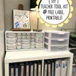 Diy Teacher Tool Box And Free Printable Drawer Labels! | Teach   Free Printable Classroom Tray Labels