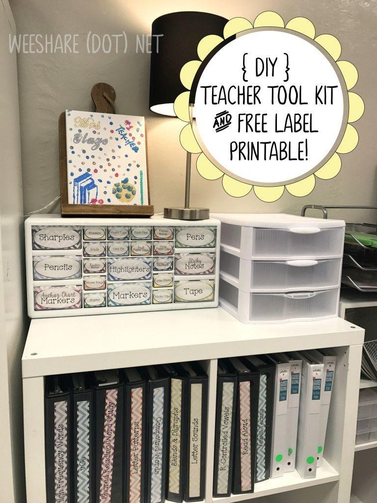 Diy Teacher Tool Box And Free Printable Drawer Labels! | Teach - Free Printable Classroom Tray Labels