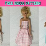 Diy Tutorial How To Make Barbie Doll Dress Free Pattern   Youtube   Easy Barbie Clothes Patterns Free Printable