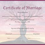 Document Template Certificate New Free   Free Printable Wedding Certificates