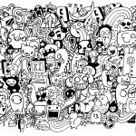 Doodle Mash Up Coloring Page | Free Printable Coloring Pages   Free Printable Doodle Art Coloring Pages