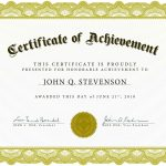 Download Blank Certificate Template X3Hr9Dto | St. Gabriel's Youth   Free Customizable Printable Certificates Of Achievement