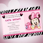 Download Free Template Cute Minnie Mouse Baby Shower Invitations   Free Printable Minnie Mouse Baby Shower Invitations
