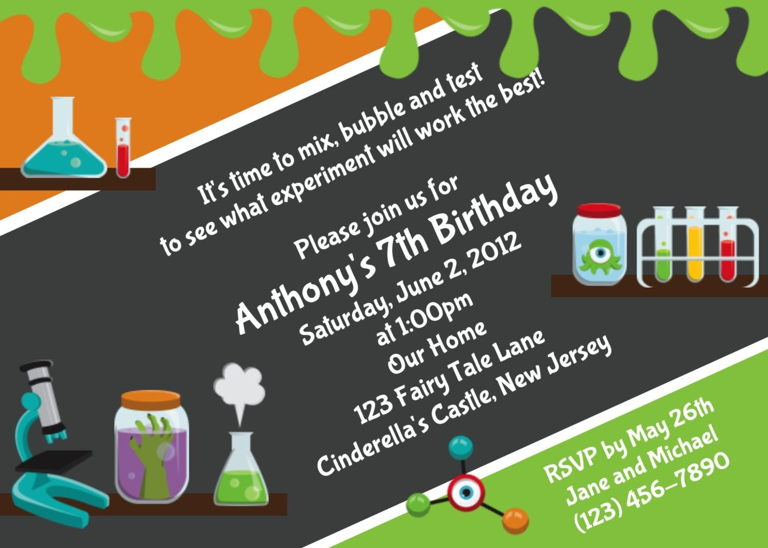 Download Free Template Mad Science Birthday Party Invitations - Free Printable Science Birthday Party Invitations