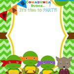 Download Now Free Printable Ninja Turtle Birthday Party Invitations – Free Printable Ninja Turtle Birthday Invitations