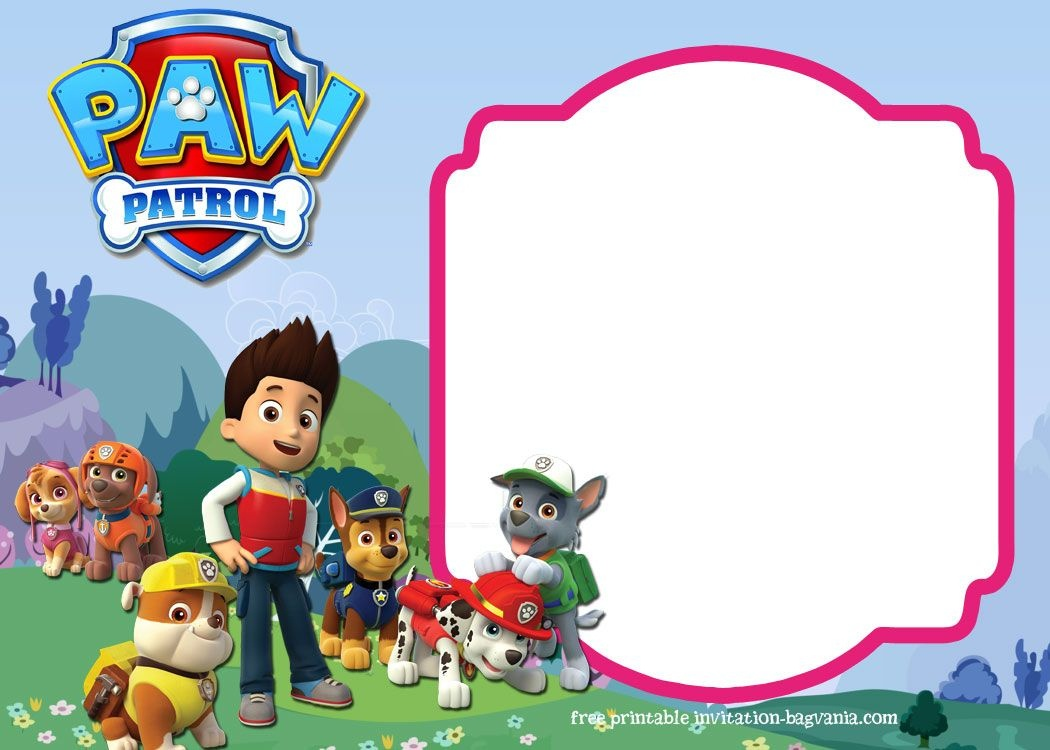 Download Paw Patrol Birthday Invitation Template - Most Complete - Free Printable Paw Patrol Invitations