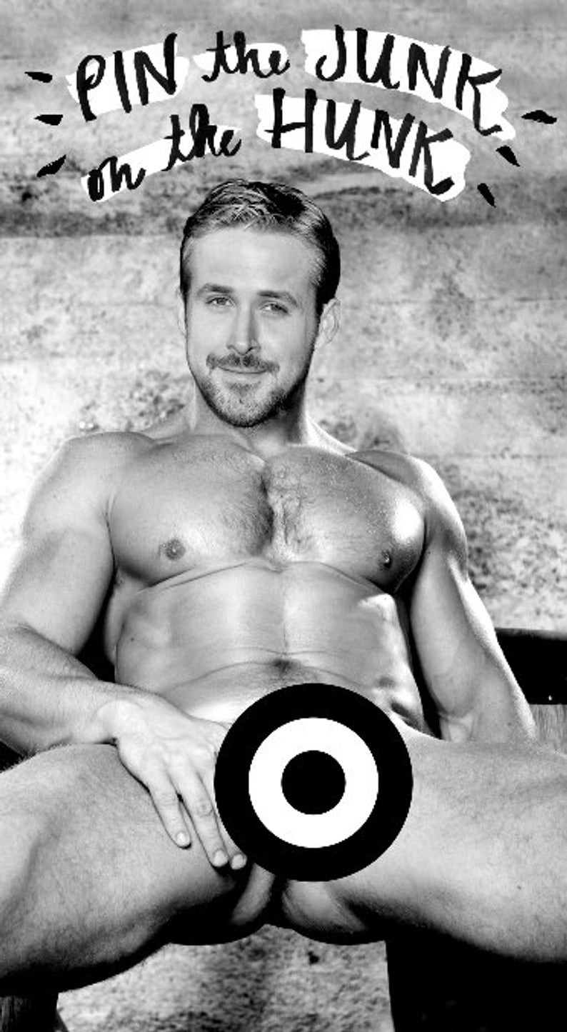 Download Ryan Gosling Pin The Junk On The Hunk Nsfw | Etsy - Pin The Junk On The Hunk Free Printable