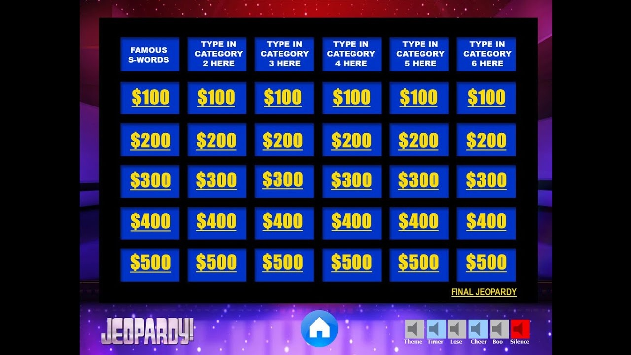 Download The Best Free Jeopardy Powerpoint Template - How To Make - Free Printable Jeopardy Template