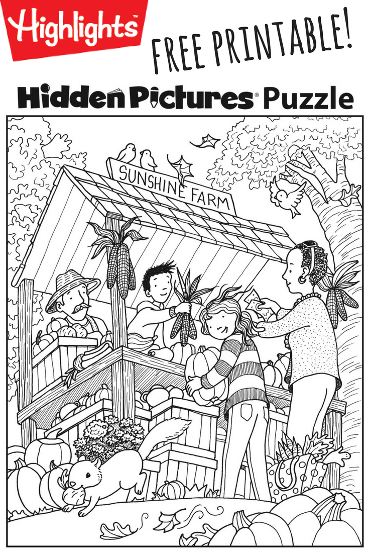 Download This Festive Fall Free Printable Hidden Pictures Puzzle To - Free Printable Hidden Picture Puzzles For Adults