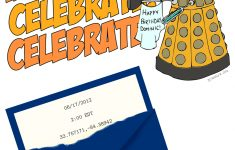 Dr. Who Birthday Party Invitation (Downloadable Template, Too – Doctor Who Party Invitations Printable Free