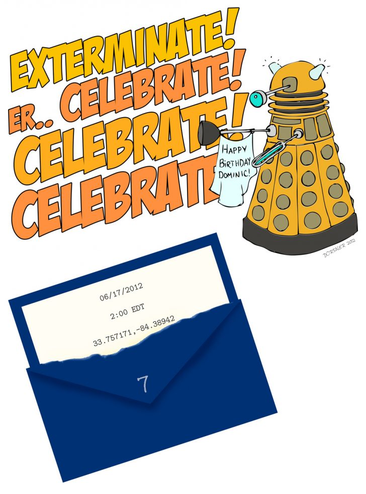 Doctor Who Party Invitations Printable Free