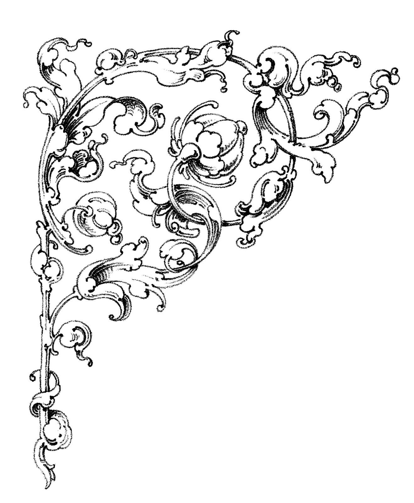 Dreamy Romantic Scrolls - Wedding Clip Art - The Graphics Fairy - Free Printable Wedding Scrolls