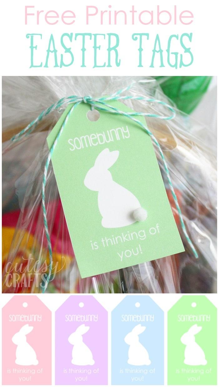 Free Printable Easter Basket Name Tags