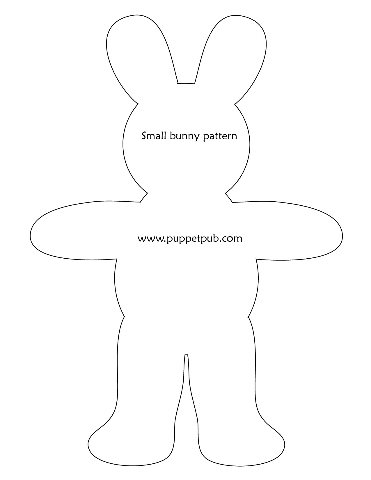 Easter Bunny Templates Free – Hd Easter Images - Free Printable Bunny Templates