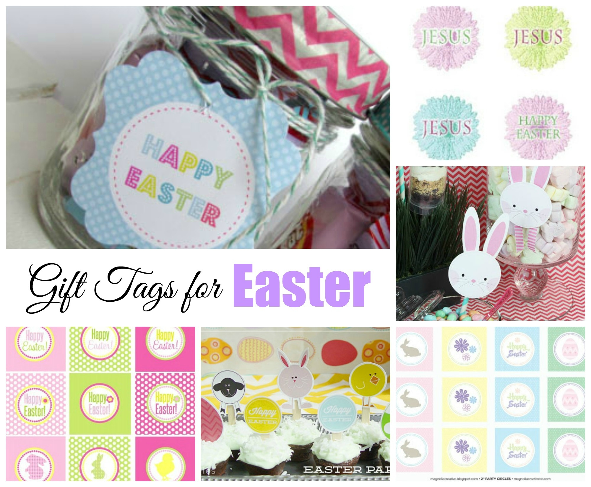 Easter Free Printable Gift Tags | Celebrating Holidays - Party Favor Tags Free Printable