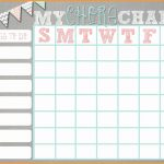 Editable Chore Chart Template Luxury 10 11 Free Editable Printable   Free Editable Printable Chore Charts
