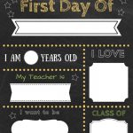 Editable First Day Of School Signs To Edit And Download For Free   First Day Of Kindergarten Sign Free Printable
