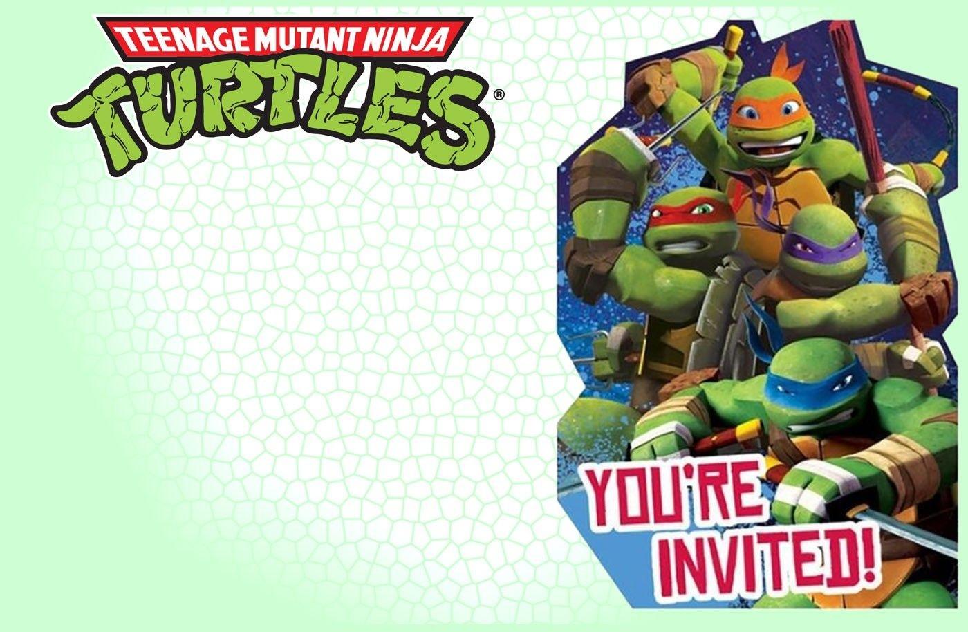 Editable Ninja Turtle Invitation Template   Tkb Printables In 2019 - Free Printable Ninja Turtle Birthday Invitations