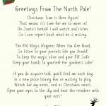 Elf On A Shelf Welcome Letter Printable   Free Printable Elf On The Shelf Letter