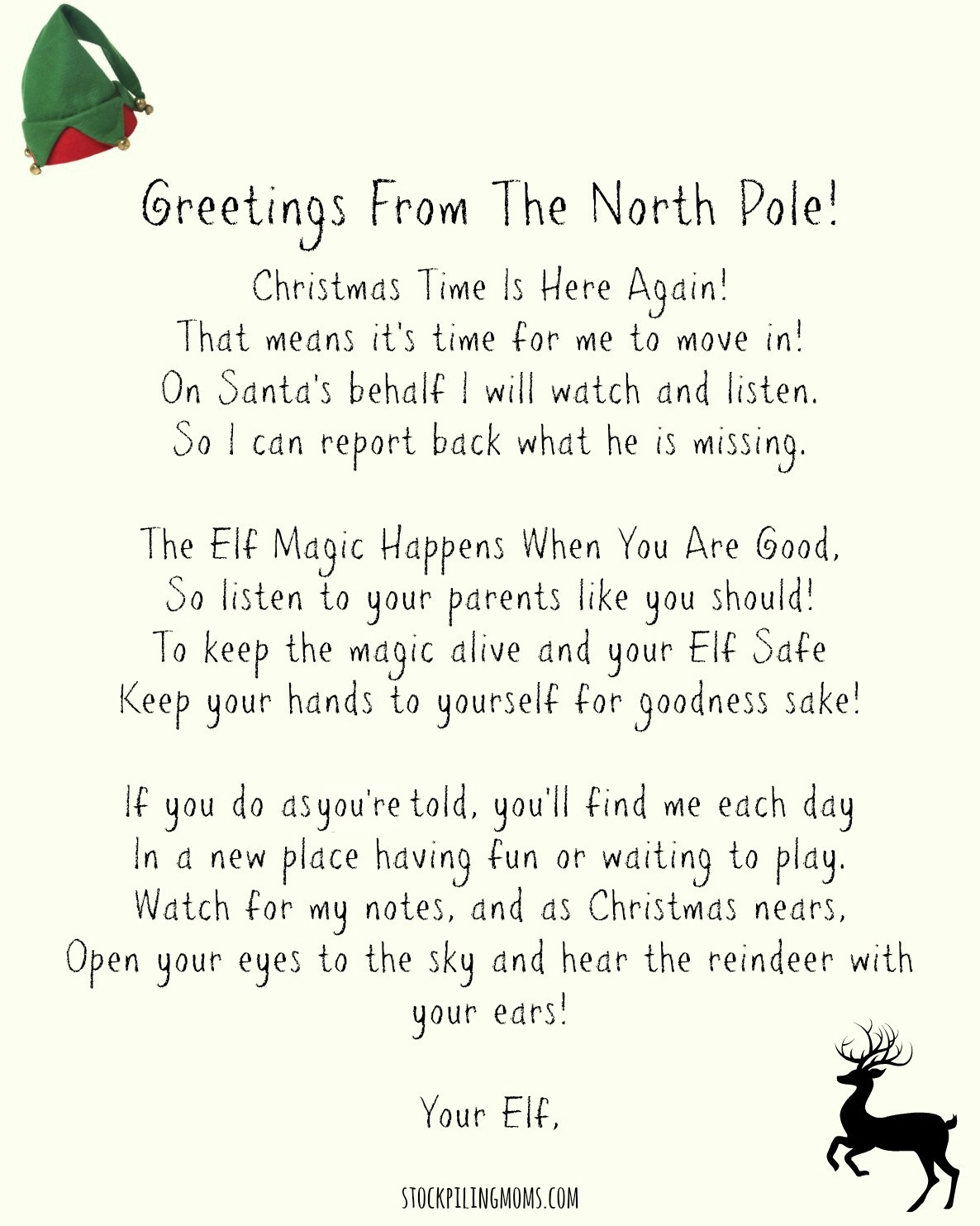 Elf On A Shelf Welcome Letter Printable - Free Printable Elf On The Shelf Letter